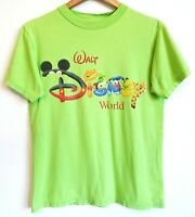 Vtg 90s Walt Disney World Mickey Pooh Goofy Tigger Pluto Letters Art T-Shirt S/M