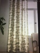 "New Project 62 Taupe Brushstroke Light Filtering Curtain Panel Grommet 54""x84"""