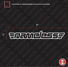 2x NAMELESS PERFORMANCE sticker decal vinyl