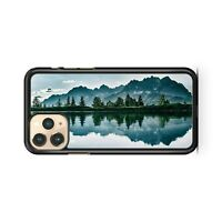 Mountains Trees Water Reflection Cloudy Sky Lush Scenery View Phone Case Cover