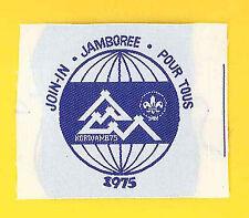 1975 World Scout Jamboree OFFICIAL JOIN IN JAMBOREE (JIJ) / POUR TOUS Patch