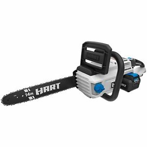 HART 40-Volt Cordless Brushless 14-inch Chainsaw Kit (1) 4.0Ah Lithium-Ion Batte