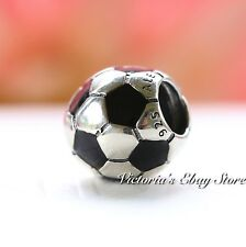 AUTHENTIC PANDORA STERLING SILVER CHARM SOCCER BALL #790406 BRAND NEW