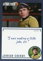Star Trek TOS Archives & Inscriptions card 7 Ensign Chekov Variation 5 out of 12