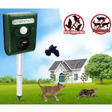 Solar Power Animal Repeller Stake Motion Detector Repels Scarer Cat Dog Fox Bird