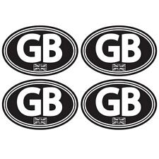 GB Union Jack Laminated Stickers Small 75mm Car Motorbike Scooter Vespa Decal