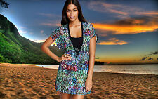 NWT GOTTEX PROFILE Aztec SEE-THROUGH Bathing Suit COVER-UP DRESS sz- SMALL