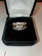 set ,white gold  2ct  14k ring preowned 9.5. Wedding