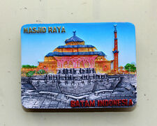 TOURIST SOUVENIR Resin 3D FRIDGE MAGNET - MASJID RAYA , Batam , Indonesia