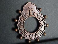 medaille religieuse ancienne Dizainier Ave Marie 4.3 x 3.8 cm  MR 0646