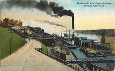 c1910 The Great B&M Copper Smelter, Great Falls, Montana Postcard