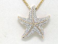 Diamant Brillant Anhänger Seestern 585 Gelbgold 14Kt Gold Starfish 65 Brillanten