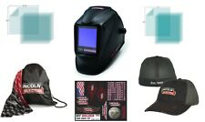 LINCOLN VIKING 3350 Black Welding Helmet K3034-4  W/ Free Hat & Accessories