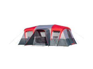 Ozark Trail 16-Person 3-Room Camping Cabin Tent, with 3 Entrances