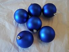 6 Dark Blue 3 IN Ball Shatter Resistant Christmas Ornament Decoration Valentines