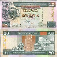 HONG KONG 20 DOLLARS 1998 P 201 UNC
