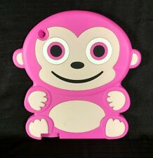 Apple iPad Cover Monkey 3D Soft Gel Rubber Silicone Case Skin Hot Pink
