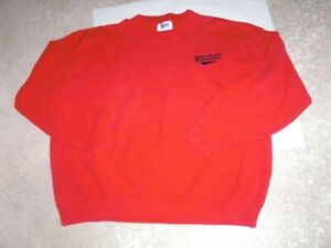 Vintage 1990's WISCONSIN red thick cotton Sweater men's XXL