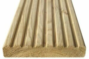 3.6m Wider Deck Board 32x150mm (27x145mm) - Smooth & Grooved Reversible