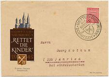 Germania 1945-46 SACHSEN 12pf SPECIALE annullare + ILLUSTRATO ENV. rettet DIE KINDER