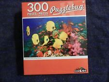 Puzzlebug Butterfly Fish Over Coral Reef, Red Sea; 300 pieces