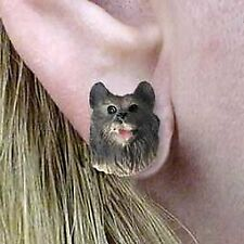Conversation Concepts Keeshond Earrings Post