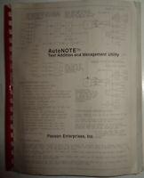 "AutoNote, by Paxson Enterprises 1989 IBM 5 1/4"" - add text to AutoCAD - Unused"