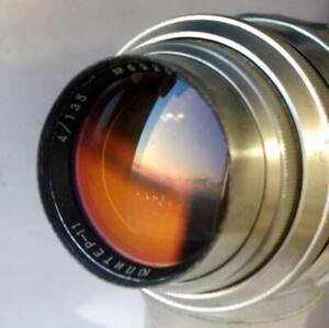 JUPITER-11 Silver Sharp Russian SLR Lens for Pentax, Zenit M42 + Caps!
