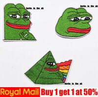 Pepe Frog Sad Frog Iron On Patch Frog Meme Patch Badge Iron On Sew On