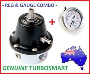 Genuine TURBOSMART Black FPR-800 Fuel Pressure Reg Regulator 1/8 NPT + Gauge