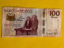 Banknote Mexico 100 Pesos 2016 Free Shipping