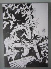 PLANCHE ORIGINALE DAREDEVIL / BATMAN par JON LANKRY