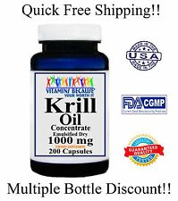 Krill Oil Capsules (HIGH-1000MG) Omega-3 Fatty Acids - EPA -DHA - Astaxanthin