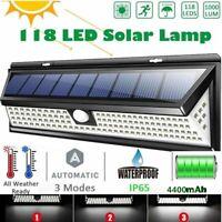 180/118COB LED Solar Lamp Outdoor Garden Yard Waterproof PIR Motion Sensor Light