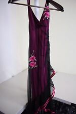 Rampage 100% Polyester Multi-Colored Floral Lined Long Dress Size - Small