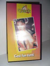 VHS Cosí Fan Tutti di Aristide Massaccesi Quick Video Custodia Rigida
