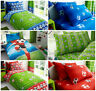 Football Single Duvet Quilt Cover For Boys Bedding Set Fitted Bed Sheets Kids