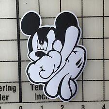 "LA Mickey Mouse Hands 4"" Tall Multi-Color Vinyl Decal Sticker - BOGO"