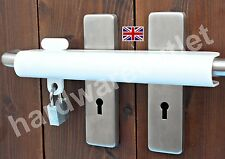 250U Patio French Double Door Security Lock WHITE & B1114 Laminated PADLOCK