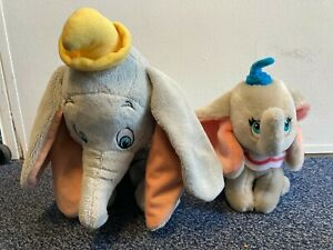 2x Dumbo Disney Elephant Plush Soft Toys C69