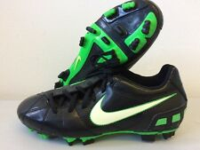 Nike T90 Football Boots UK 4 Total Shoot 385409-013 Black & Green UK Size T115