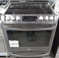 """Lg Lse4613Bd 30"""" Slide-in Electric Range with ProBake Convection"""
