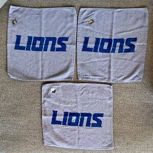 (3) Official NFL Detroit Lions Rally Towels ~ Brand New