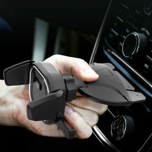 Car CD Mobile Phone Adjustable Holder Mount Stand Easy One Touch CD Slot Mount