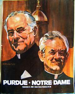 1980 Notre Dame Fighting Irish vs Purdue Football Sept 6, 1980