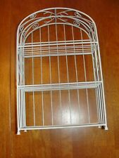 """Vintage White Metal Wire Wall hanging - Counter Shelf - Spice Rack - Country 14"""""""