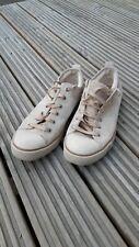 UGG Australia Size UK 7.5 EU 40 Women's suede 1888 beige low top trainers