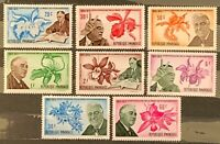 Rwanda. Death of Roosevelt & Orchids Stamps Set. SG391/98. 1970. MNH. (X122)