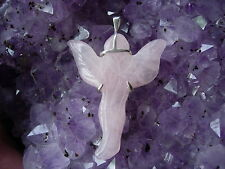 rose quartz Angel Pendant   by Paul Harrison AA5