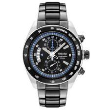 Seiko Criteria SNN183 P1 Silver Black Dial Men's Chronograph Quartz Watch